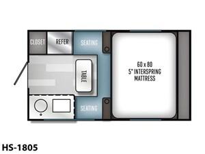 2022 Palomino Real-Lite Truck Camper Hard Side HS-1805